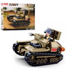 Конструктор SLUBAN M 38 B 0709 военный, танк, в коробке