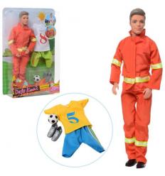 Кукла с нарядом DEFA 8382 Кен, футбольная форма, в слюде