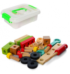 Деревянная игрушка MD 2614 Конструктор, в ящике
