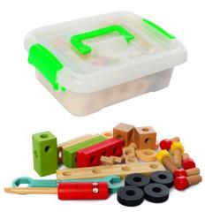 Деревянная игрушка MD 2621 Конструктор, в ящике