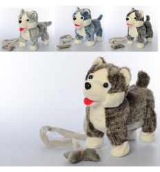 Собака MP 2141 д/у, хаски, на батарейках, в кульке