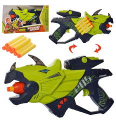 Пистолет М 5564 динозавр, на батарейках, в коробке