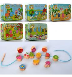 Деревянная игрушка Шнуровка MD 2565 в коробке