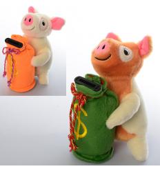 Копилка MP 1695 свинка, на батарейках