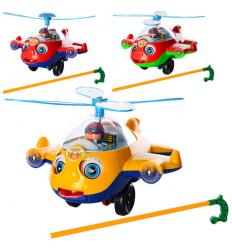 Каталка S168 на палке, вертолет, в кульке