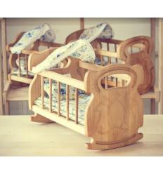 Кроватка-колыбель 03-102 с набором постельного белья, в коробке