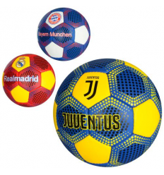 Мяч футбольный 2500-75 размер 5, клубы, в кульке