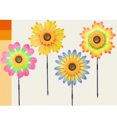 Ветрячок W 2006 цветы, на палочке 57 см, в кульке
