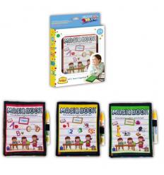 Книга-коврик YQ 5907-1-2-3 детский, с водяныым маркером, в коробке