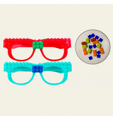 Конструктор-очки 5010-1 (320шт) очки, микс цветов, на листе, 19-17-3 см
