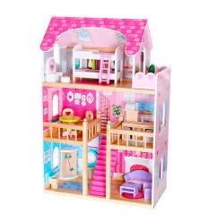 Деревянная игрушка Домик MD 1039 для куклы, в коробке