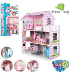 Деревянная игрушка Домик MD 1204 для куклы, в коробке