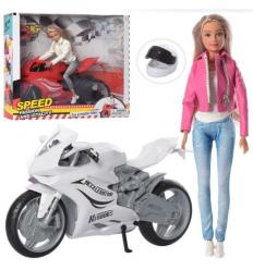 Кукла DEFA 8459 шарнирная, мотоцикл, в коробке