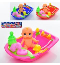 Пупс 58536-1 ванна, уточка, мочалка, бутылочка, в кульке